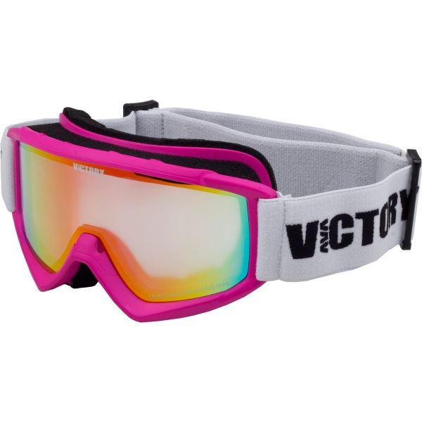 Detské lyžiarske okuliare Victory SPV 620 ružová