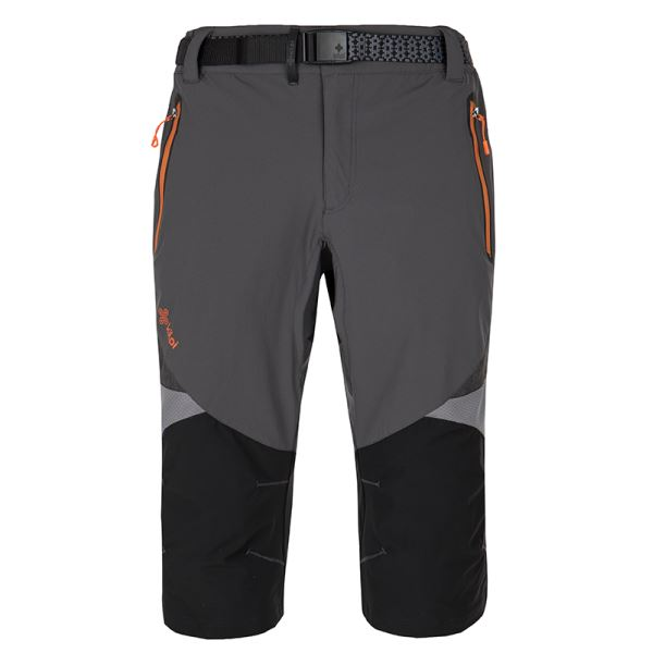 Pánske funkčné 3/4 nohavice Kilpi TERRAIN-M tmavo sivá