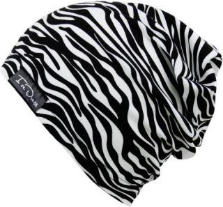 Detská bavlnená čiapka IceDress ZEBRA biela / čierna