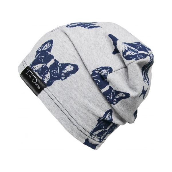 Detská bavlnená čiapka IceDress BULDOČCI sivá