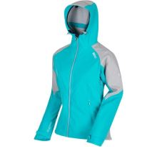 Dámska softshellová bunda Regatta DESOTO III modrá / šedá