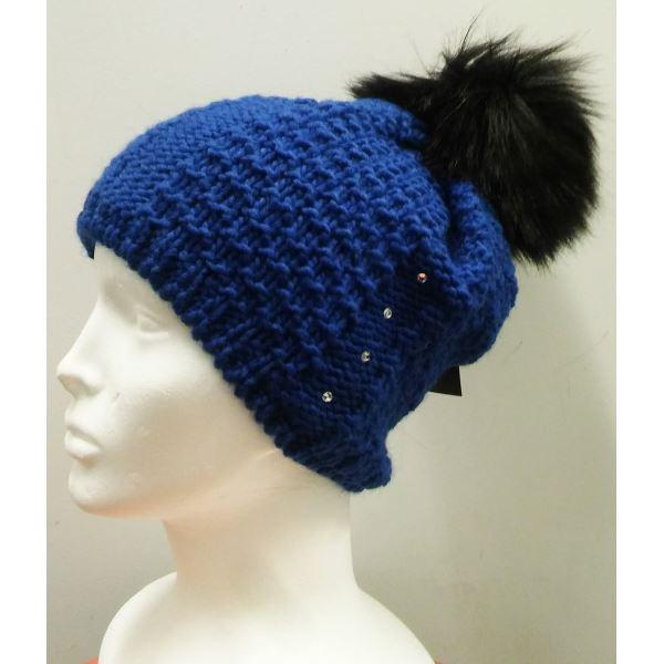 Dámska zimná čiapka Capu 381 modrá