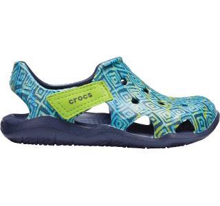 Detské topánky Crocs SWIFTWATER WAVE modrá / zelená
