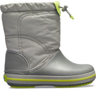 Detské topánky Crocs CROCBNAD LodgePoint Boot K sivá