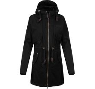 Dámsky kabát Kilpi PAU-W čierna (nadmerná veľkosť)