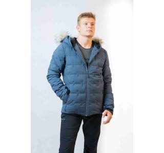 Pánska zimná páperová bunda 2117 MON atramentovo sivá