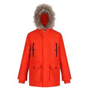 Detská zimná bunda Regatta PROKTOR Parka oranžová