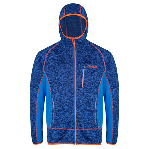Pánska fleecová mikina Regatta CARTERSVILLE V modrá / oranžová