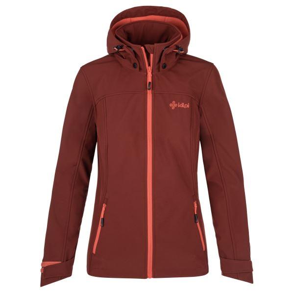 Dámska softshellová bunda Kilpi RAVIA-W tmavo červená