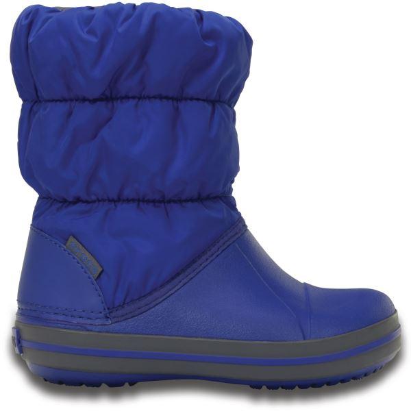 Detské zimné topánky Crocs WINTER PUFF modrá/sivá