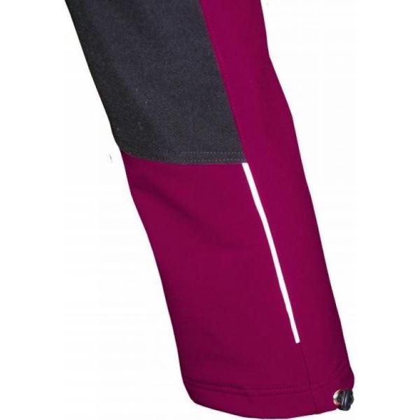 Detské softshellové nohavice Fantóm s cordurou ružovej