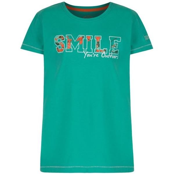 Detské tričko Regatta BOBBLES II tmavo zelená