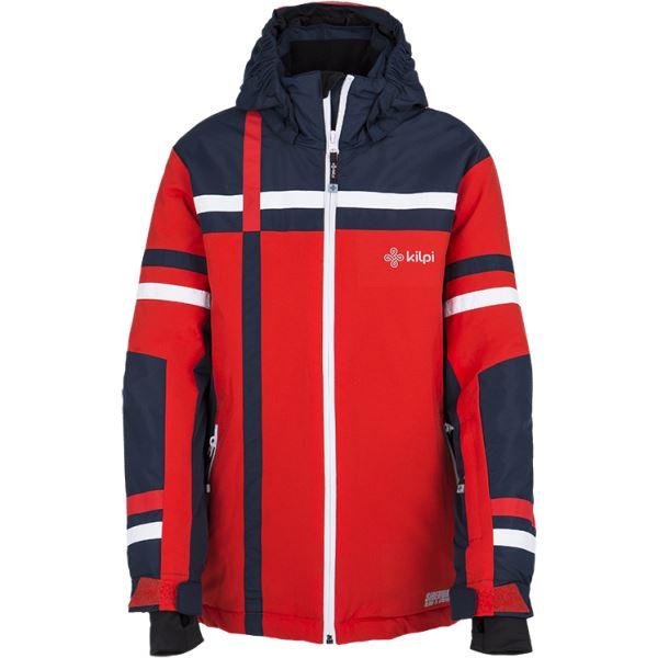 Detská zimná lyžiarska bunda Kilpi TITAN-JB červená