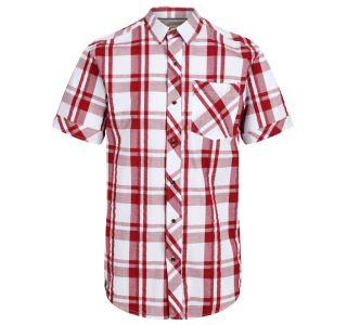 Pánska košeľa Regatta Deakin III biela / červená