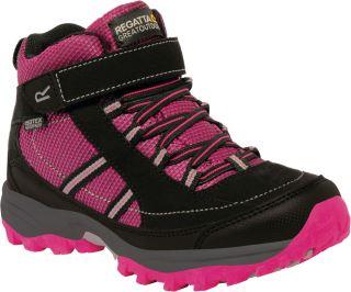 Detské topánky Regatta TRAILSPACE II Mid ružová / čierna