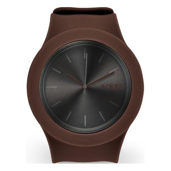 Aight silikónové hodinky 3ATM hnedá