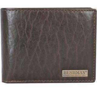 Pánska peňaženka BUSHMAN Kubiš tmavo hnedá