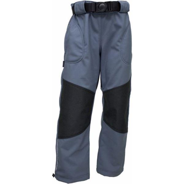 Detské softshellové nohavice Fantóm s cordurou šedej 164
