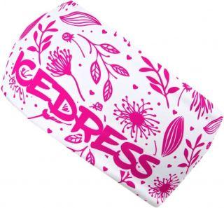 Univerzálne funkčné čelenka IceDress FLOWERS WHITE PINK