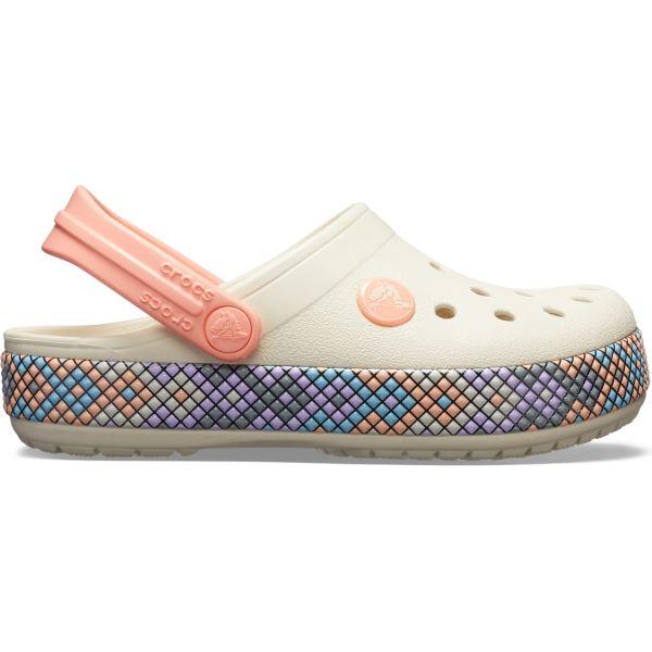 Detské topánky Crocs Crocband GALLERY Clog svetložltá / melónovo ružová