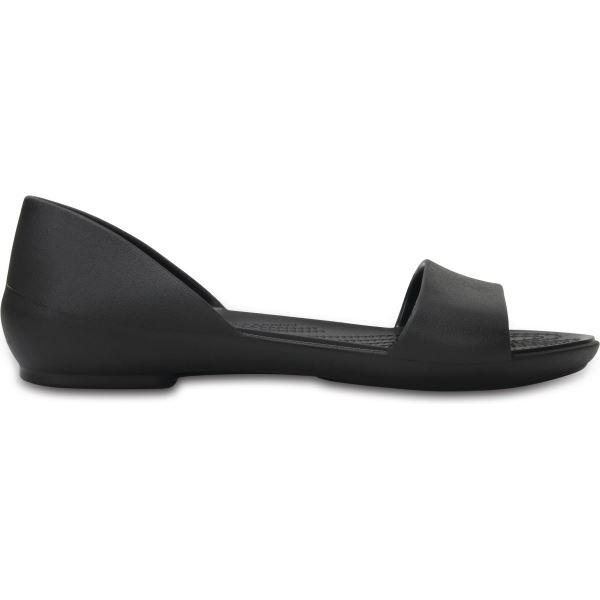 Dámske balerínky Crocs LINA D'ORSAY Flat čierna