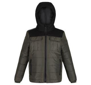Detská zimná prešívaná bunda Regatta PASCO khaki