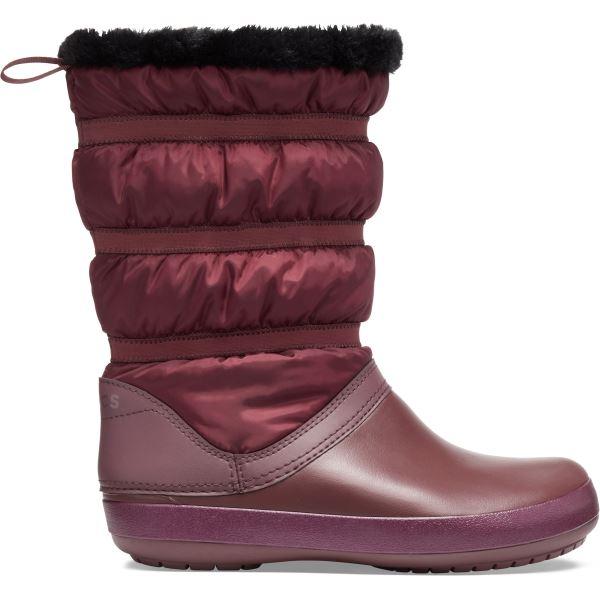 Dámske zimné topánky Crocs Crocband Winter Boot vínovo červená
