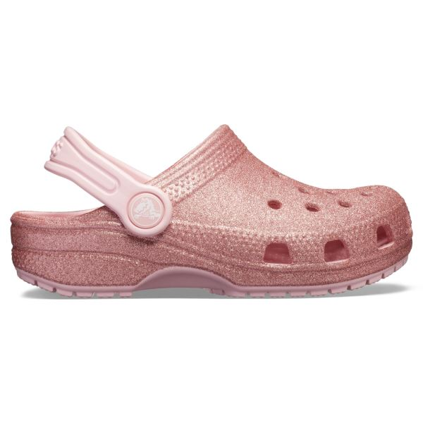 Detské topánky Crocs CLASSIC GLITTER ružová