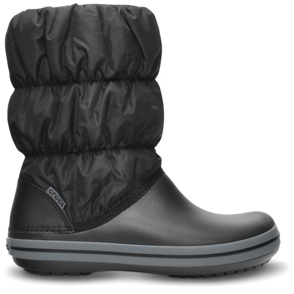 Dámske zimné topánky Crocs WINTER PUFF čierna