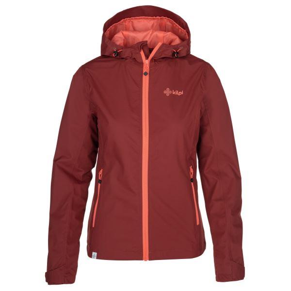 Dámska outdoorová bunda Kilpi ORLETI-W tmavo červená