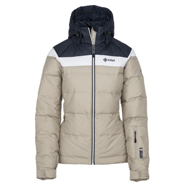 Dámska zimná páperová bunda Kilpi SYNTHIA-W béžová