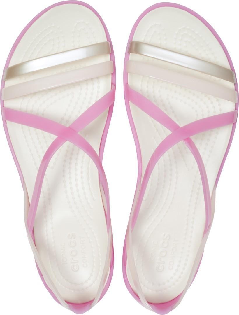 da8f3721b4d8 Dámske sandále Crocs Isabella Strappy Sandal ružová   biela