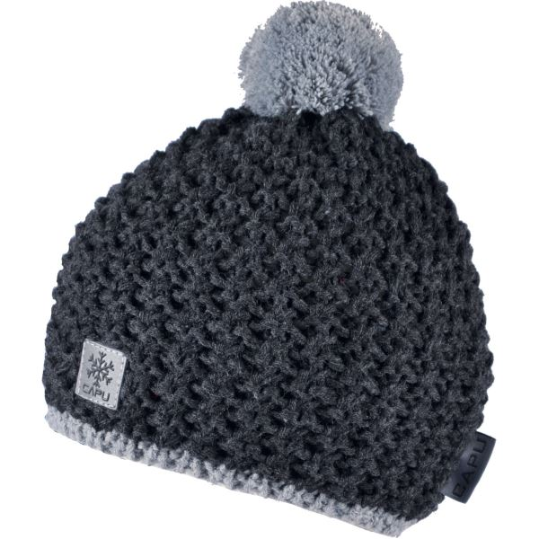 Detská zimná čiapka Capu 300 čierna
